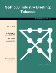S&P 500 Industry Briefing: Tobacco - Dr. Ed Yardeni's Economics ...