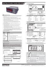 Digital Temp. & Humidity Controller (FX3DH SERIES)