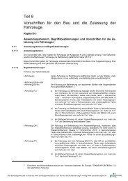 Teil 9 Vorschriften für den Bau und die Zulassung der Fahrzeuge