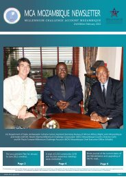 mca mozambique newsletter - Millennium Challenge Account ...