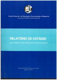 Relatório de Estágio - Biblioteca Digital do IPG - Instituto Politécnico ...