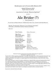 Ale Brider (?) - Teatro Lirico di Magenta