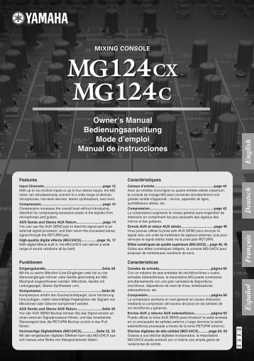 MG124cx MG124c Owner's Manual