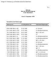 Anlage VII: Ortssatzung und Straßenverzeichnis Stadt Bonn