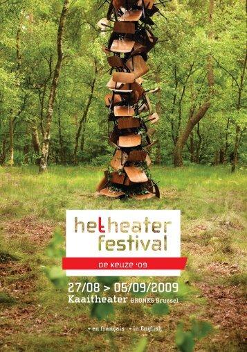 27/08 > 05/09/2009 - Het Theaterfestival