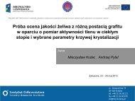 Referat 4 - Badania i rozwój nowoczesnej technologii tworzyw ...