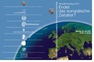 Endet das europäische Zeitalter? - Union der deutschen Akademien ...