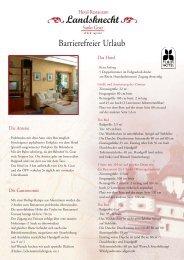 Barrierefreier Urlaub - Hotel Restaurant Landsknecht