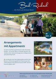 Arrangements mit Appartments - therme Natur Bad Rodach