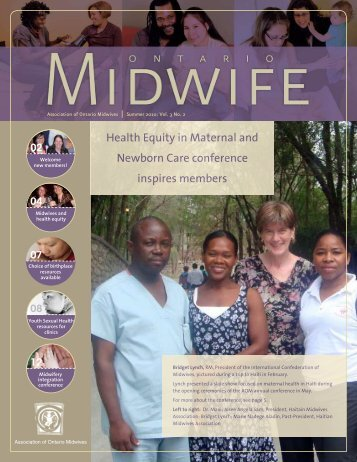 Summer 2010 - Association of Ontario Midwives
