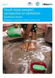South Asian people's perspectives on sanitation - WaterAid