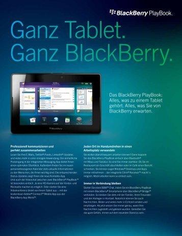 Das BlackBerry PlayBook: Alles, was zu einem ... - wireless & mobile