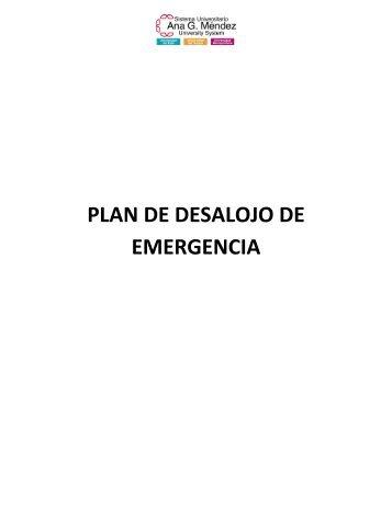 PLAN DE DESALOJO DE EMERGENCIA