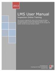 (LMS) User Guide - HUD