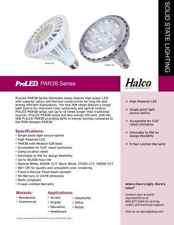 Halco LED PAR 38 Bulbs - LED Lighting