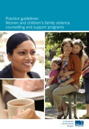 Practice guidelines: Women and children's family violence ...