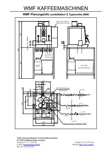 WMF Planungsinfo combiNation S Typenreihe ... - WMF  KM Techinfo