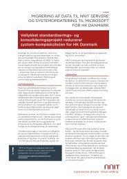 Migrering af data til nnit servere og systeMopdatering til Microsoft for ...