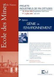 Option génie de l'environnement - Ecole des mines de Nantes