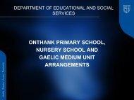 onthank primary school, nursery school and gaelic medium unit ...