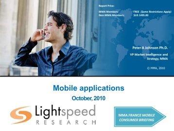 Mobile applications - Mobile Marketing Association