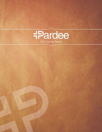 2010 Annual Report - Pardee Hospital