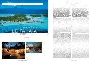 le Taha'a - Bora Bora Resorts