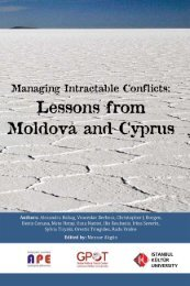 Managing Intractable Conflicts: Lessons from Moldova and Cyprus