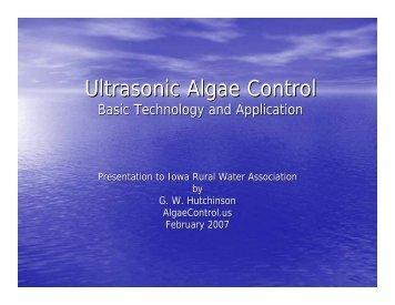 Ultrasonic Algae Control - Spartan Environmental Technologies