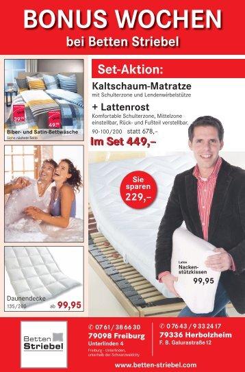 bei Betten Striebel - Betten Striebel GmbH