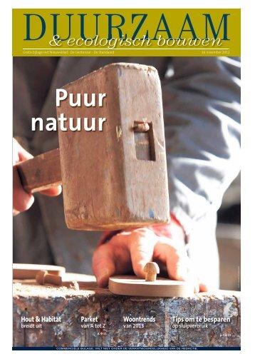 & ecologisch bouwen - Het Nieuwsblad