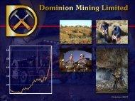 October 2007 October 2007 - The Sydney Mining Club