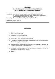 Protokoll G-Vertreter 2011 02 21 - St. Gerold