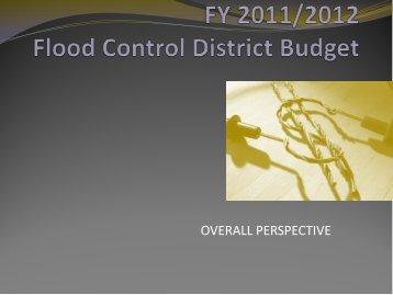 FY 2011/2012 Flood Control District Budget - San Bernardino County