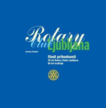 Knjiga Sledi prihodnosti - Rotary klub Ljubljana