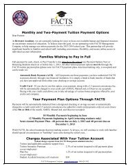 FACTS and Fees - Brewster Academy