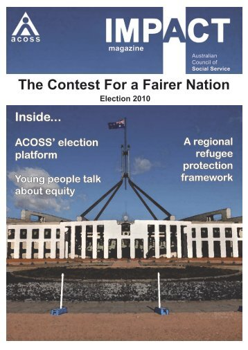 The Contest For a Fairer Nation - Australian Council of Social Service
