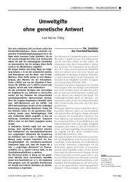 Umweltgifte ohne genetische Antwort - UMG-Verlag