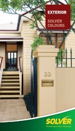 EXTERIOR SOLVER COLOURS - Solver Paints