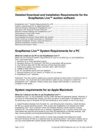 Detailed Download and Installation Requirements for the ...