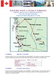 TOUR DEL WEST CANADA E TORONTO - Pan Pacific Tours