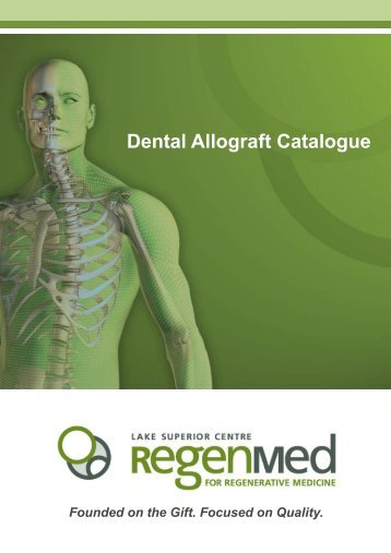 Dental Allograft Catalogue - RegenMed