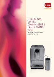 luxury for coffee connoisseurs can be smart too. - Nivona