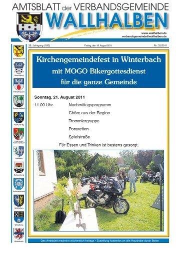 Kirchengemeindefest in Winterbach - Verbandsgemeinde Wallhalben