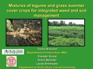 Mixtures of legume and grass summer cover crops for integrated ...