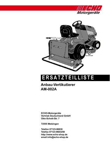AM-002A Anbau-Vertikutierer - Gartentechnik-Bremen