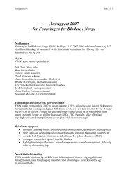Årsrapport 2007 for Foreningen for Blødere i Norge