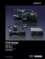 Download HVR Series Brochure - Vistek