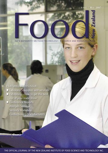 FEATURED IN THIS ISSUE - NZIFST - The New Zealand Institute of ...