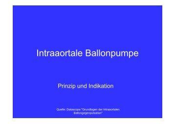 Intraaortale Ballonpumpe